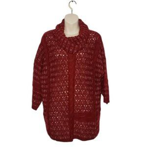 LUCKY BRAND Mixed Cable Stitch Cowl Sweater medium